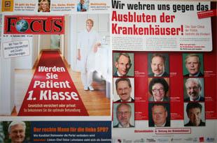 Focus Titelblatt Nr.38/08 und Anzeige